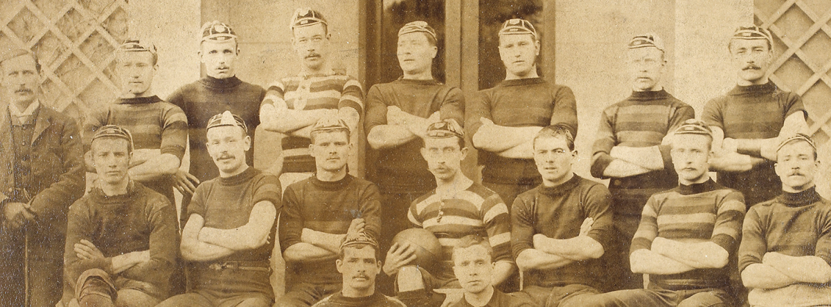 Banner: Gloucester Rugby team photo from the 1800s