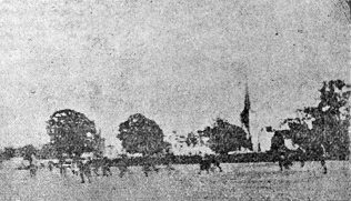 A very early, very indistinct image of Kingsholm