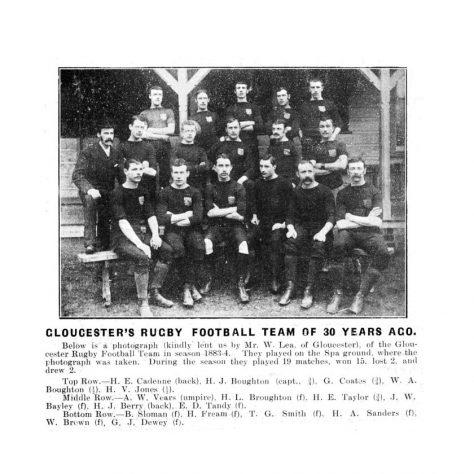 1883 - 1884 Team