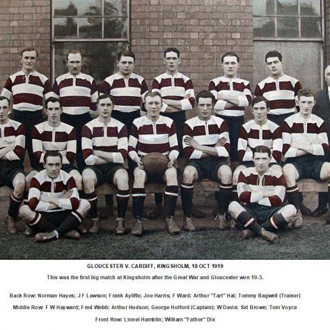 1919 - 1920 Team v Cardiff