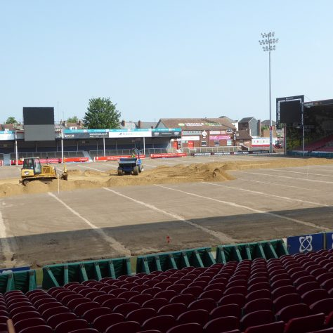 View looking towards the north east corner of the ground.