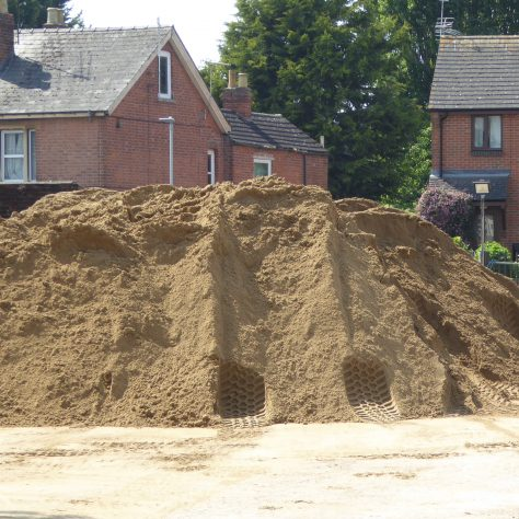 The pile of sand in the western car park starts to grow - AGAIN.