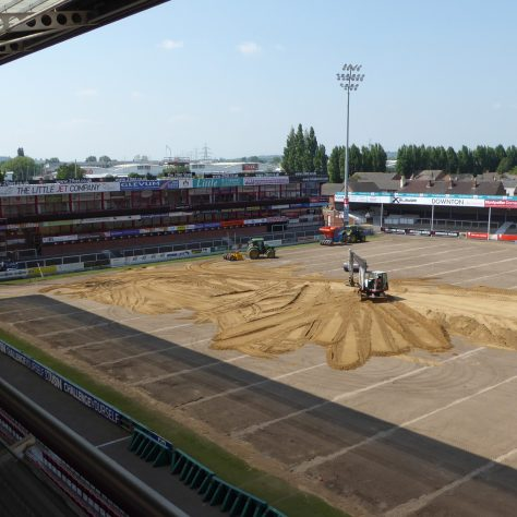 A view from one of the hospitality boxes in the main grand stand.
