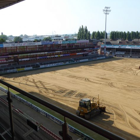 View from one of the Hospitality boxes in the main grand stand.
