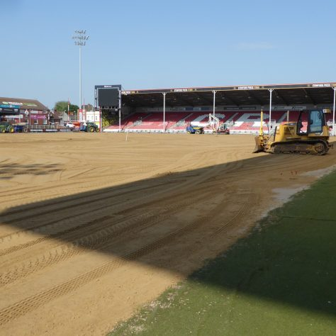 The area outside the pitch area will be feathered into the pitch later on.