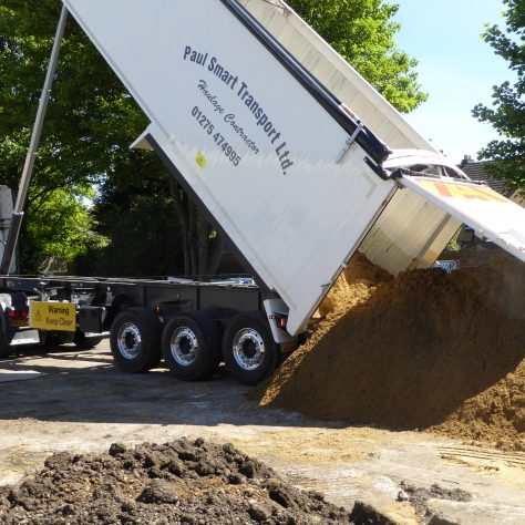Another load of sand has arrived.
