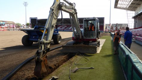 Day  8 - Tuesday 15 May - 150mm drainage pipe installation