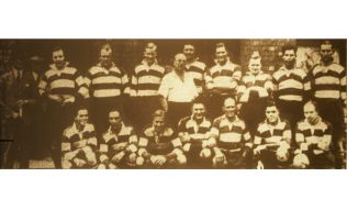 The Gloucester team that played the RAF at Kingsholm in Oct 1940