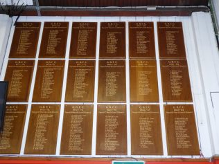 Honours Boards used between 1961/62 season and 1979/80 season