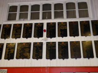 Examples of some of the Team Honours Boards used up to 1960/61 season