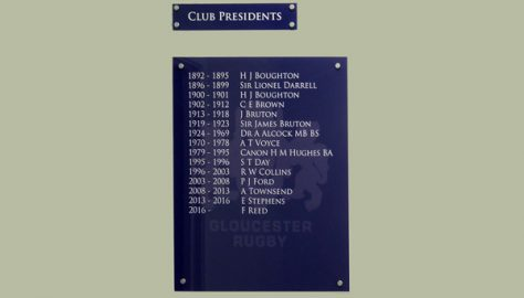 Club Presidents, 1892-2018