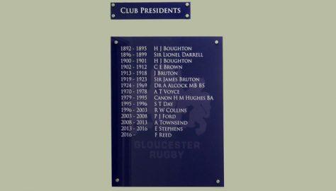 Club Presidents, 1892-2018