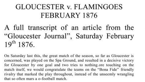 Gloucester v. Flamingoes