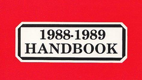 Team Handbook, 1988-89