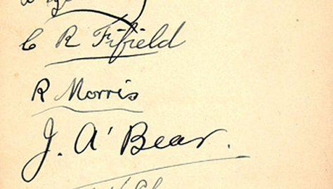 1934 Team Autographs
