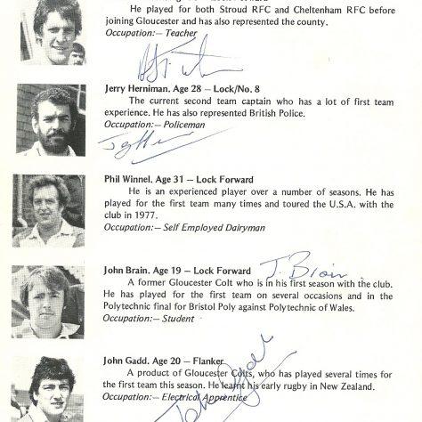 1980 Canada Tour