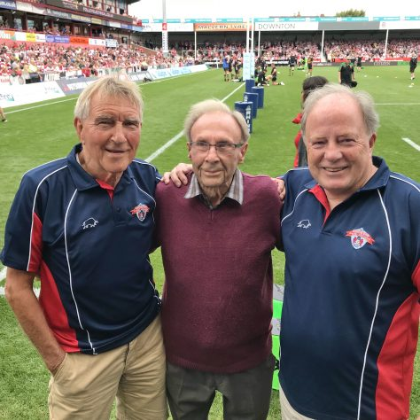 John Watkins, 93 year old Ken Daniell and Richard Moody