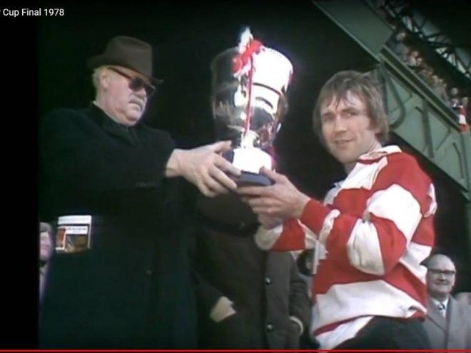 John Watkins receiving the 1978 John Player Cup