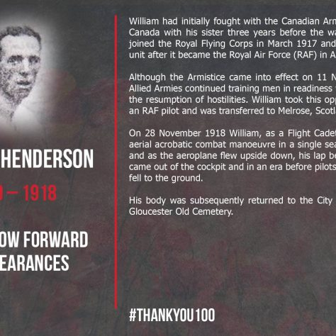 William Henderson 1889-1918 | Gloucester Rugby