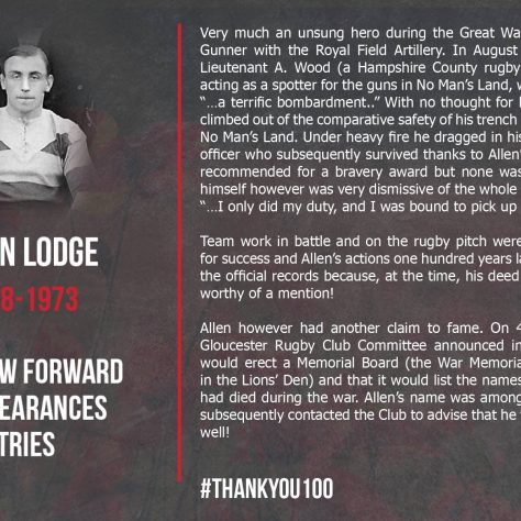 Allen Lodge 1888-1973 | Gloucester Rugby