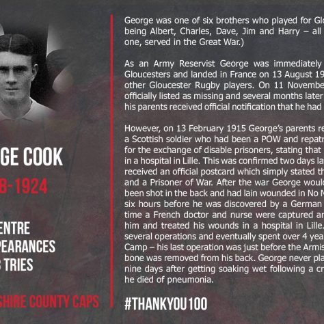 George Cook  1888-1924 | Gloucester Rugby