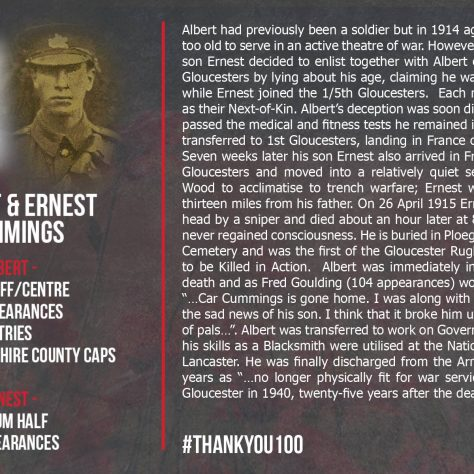 Albert and Ernest Cummings | Gloucester Rugby