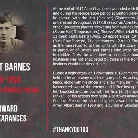 Albert Barnes 1890-1950 | Gloucester Rugby
