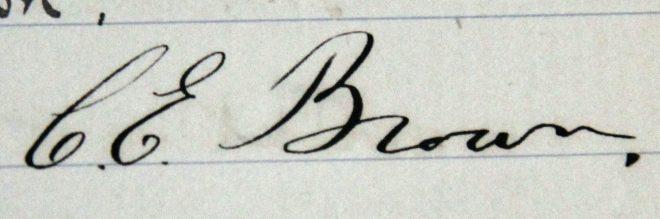 C. E. Brown. Capt 1889. President 1902-12.