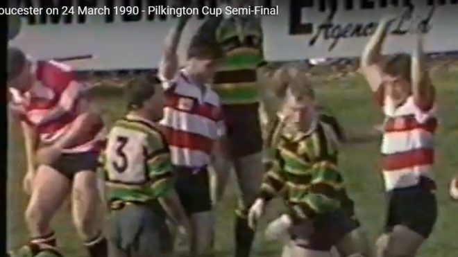 1990 - 24 March;  Nothampton v Glos;  Pilkington Cup Semi-Final