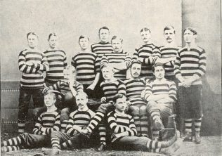 Gloucester team c1880 J W Bayley is standing at the extreme left