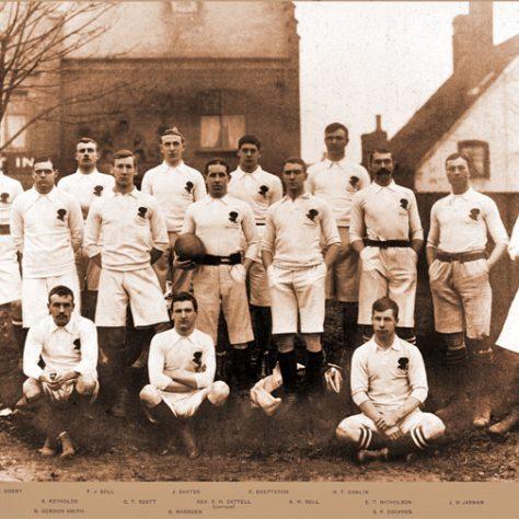 The England team, Kingsholm, 6 Jan 1900