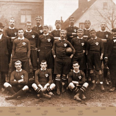 The Wales team, Kingsholm, 6 Jan 1900