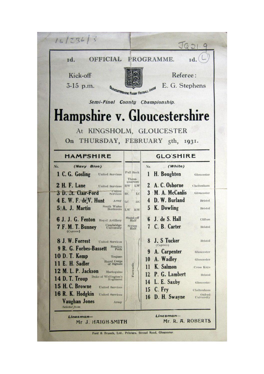 1930 - 31