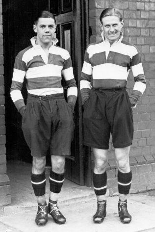 Bob and his younger brother England full back Bill Hook