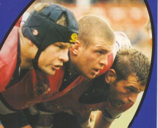 The Gloucester front row of Deacon, Fortey and Windo take on Bedford at Kingsholm 7/11/98