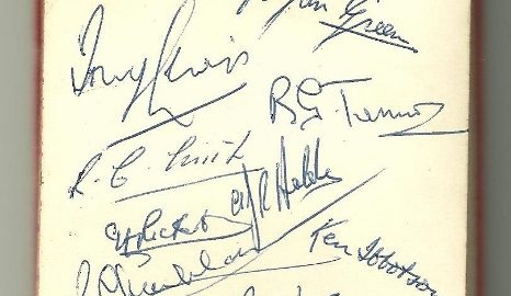 Gloucester Players' Autographs (1959)