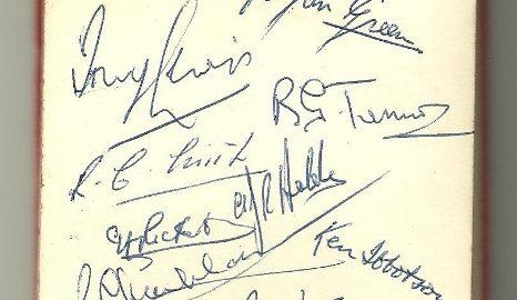 Gloucester Players' Autographs (1959)