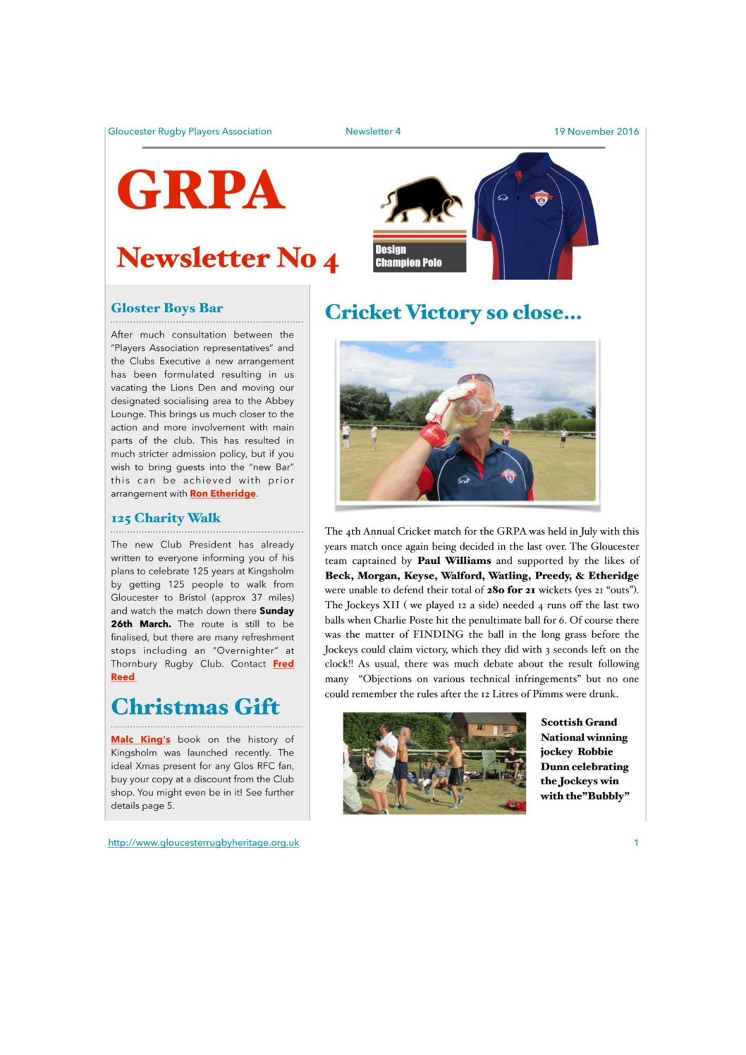 GRPA Newsletters