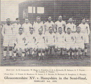 From programme of 1934 County Championship Final