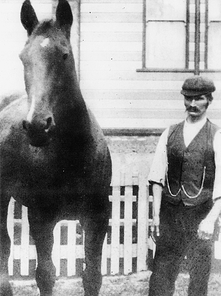 Harry Dyke and his horse