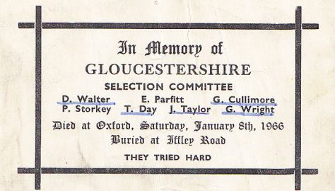 What terrible fate befell Gloucestershire on 8 Jan 1966?