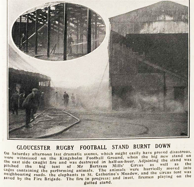 1933: A Fire - and a New Grandstand