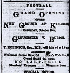First Kingsholm Match Programme