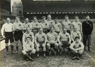 RAF team v Army Twickenham 1951, Mike Baker is on the left in the back row