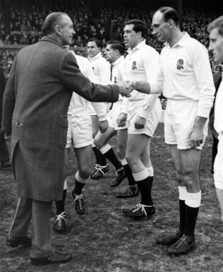 Shaking hands with the prime minister Twickenham 1964