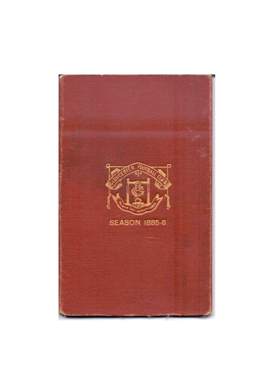 1885-86 Season Ticket