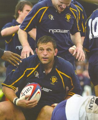 .......and coming up with the ball for Worcester